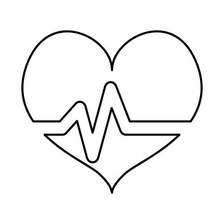 White heard cardiology medical icon image, vector illustration