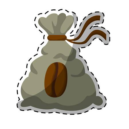 Gray coffee sack icon image, vector illustration