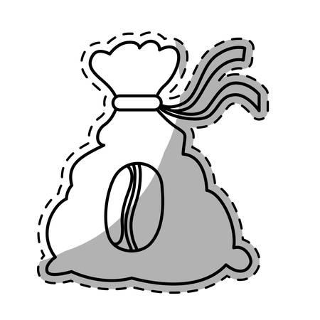 dark fiber: Figure coffee sack icon image, vector illustration