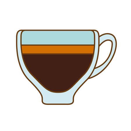 Brown espresso glass icon design, vector illustration Illustration
