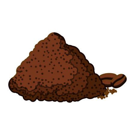 Color coffee mountain icon design, vector illustration