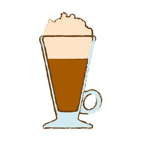 Brown frappe glass icon design, vector illustration Illustration