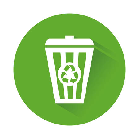 Green recycleng basket signal design, vector illustration
