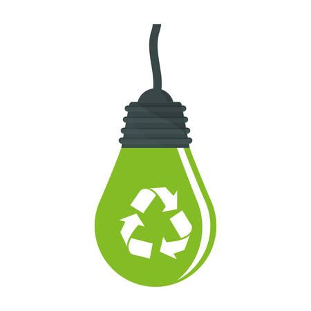 Green bulb environmental friendly design, vector illustration