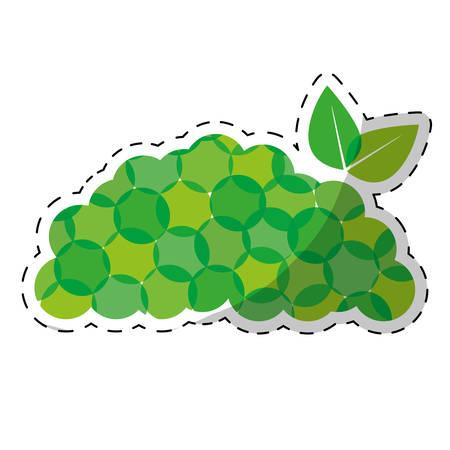 Green piled up leaves design, vector illustration image