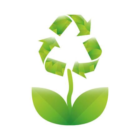 Green eco plant environment care, vector illustration