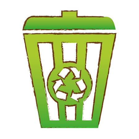Color recycleng basket image design, vector illustration