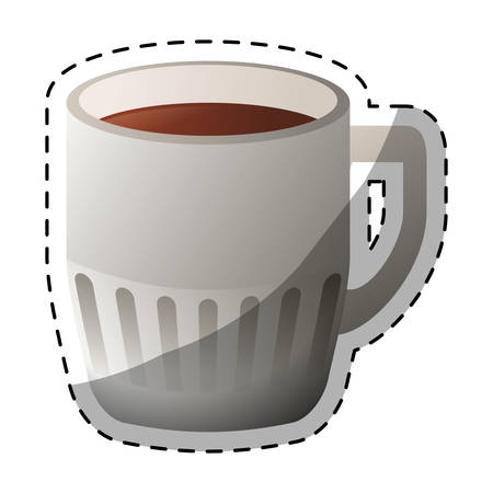 brewed: Color coffee cuppa design image, vector illustration icon