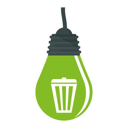 green bulb: Green bulb care environmental design, vector illustration