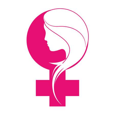 rappresentazione femminismo immagine icona illustrazione vettoriale progettazione