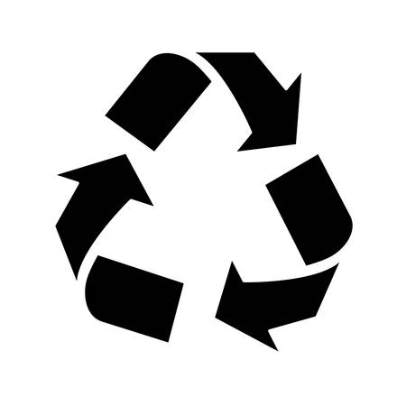 openness: Black environmental care signal icon, vector illustration
