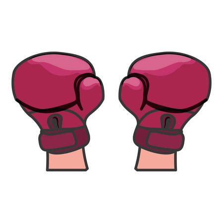 boxing gloves feminism related icons image vector illustration design