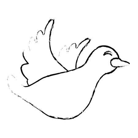 paloma caricatura: icono de la paloma de dibujos animados ilustración imagen del diseño del vector Vectores