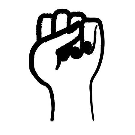 fist hand icon image vector illustration design