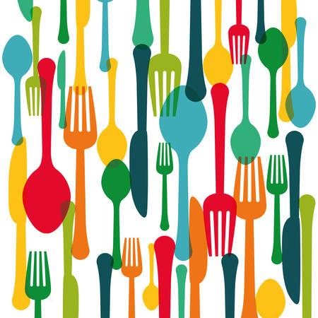 assorted cutlery icons emblem  image vector illustration design