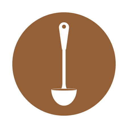 ladle kitchen supplies icon image vector illustration design