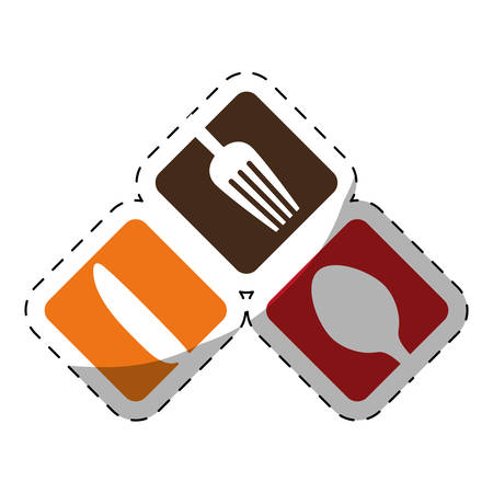 fork knife spoon cutlery icon image vector illustration design