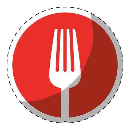 tablespoon: fork cutlery icon image vector illustration design Illustration
