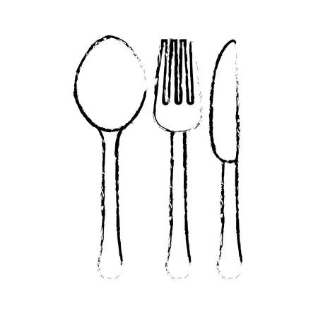 spoon knife fork cutlery icon image vector illustration design