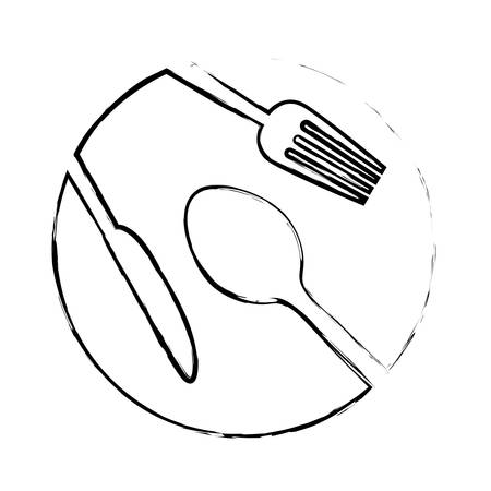 tablespoon: spoon knife fork cutlery icon image vector illustration design