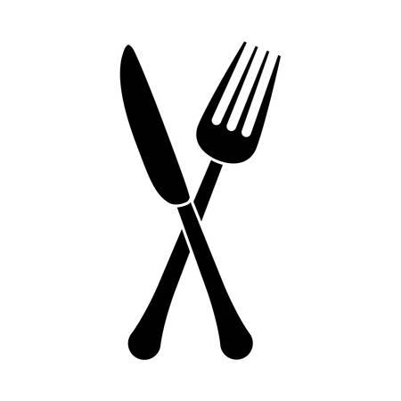fork and knife cutlery icon image vector illustration design Illustration