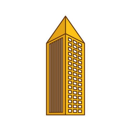 monochrome city building icon image vector illustration design