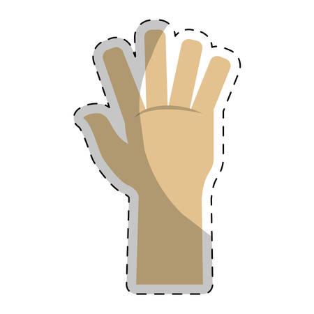 begging: Hand open image icon design, vector illustration