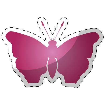 feminist: Pink butterfly feminist defense design, vector illustration