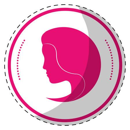 feminist: Fucsia symbol feminist defense image, vector illustration design Illustration