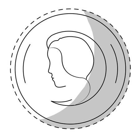 feminist: contour symbol feminist defense image, vector illustration design