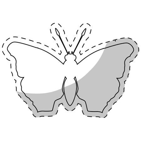 feminist: contour butterfly feminist defense design, vector illustration