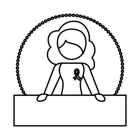 Figure woman feminist defending image, vector illustration design Illustration