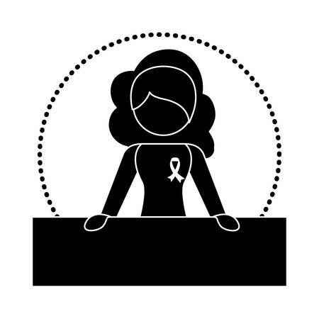 feminist: Black woman feminist defending image, vector illustration design Illustration