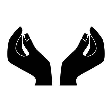 Black woman hands icon image design, vector illustration