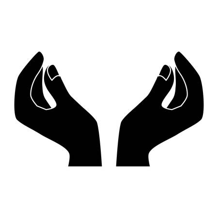 Black woman hands icon image design, vector illustration Illustration