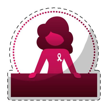 feminist: Fucsia woman feminist defending image, vector illustration design