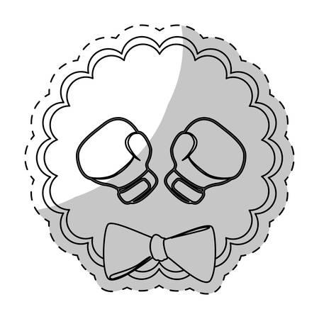 defend: contour boxing gloves to defend women icon design image