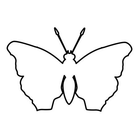 feminist: figure butterfly feminist defense design, vector illustration Illustration