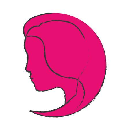 feminist: color feminist defense image icon, vector illustration design
