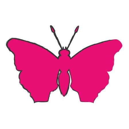 feminist: color butterfly feminist defense design, vector illustration