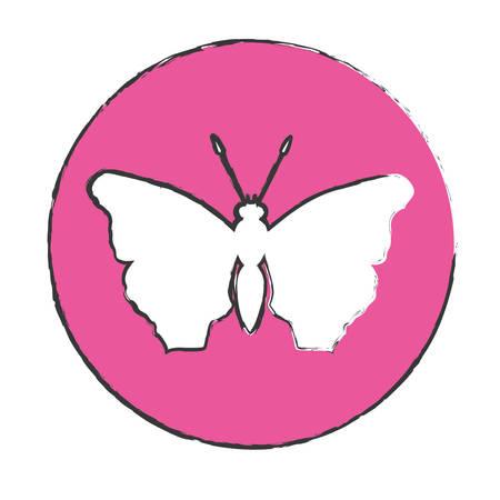 feminist: emblem butterfly feminist defense design, vector illustration