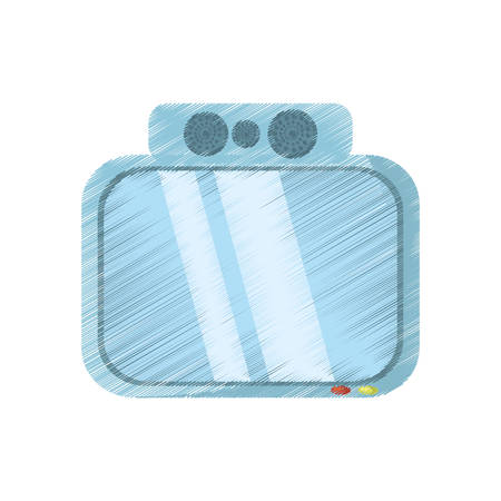 drawing tv channel movie sound vector illustration eps 10 Illustration