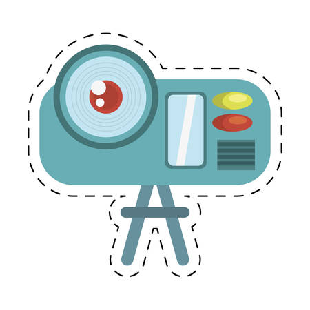 camcorder: camcorder film movie device icon cut line vector illustration eps 10