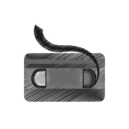drawing vhs tape movie record retro vector illustration eps 10