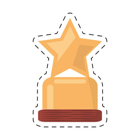 viewer: award trophy movie industry cut line vector illustration eps 10