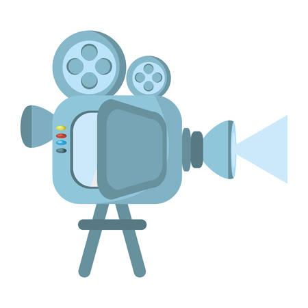 film camera projector reel vector illustration eps 10