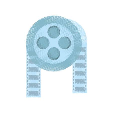drawing film reel cinema video tape vector illustration eps 10 Illustration
