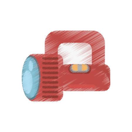 drawing red lantern light cinema tool icon vector illustration eps 10