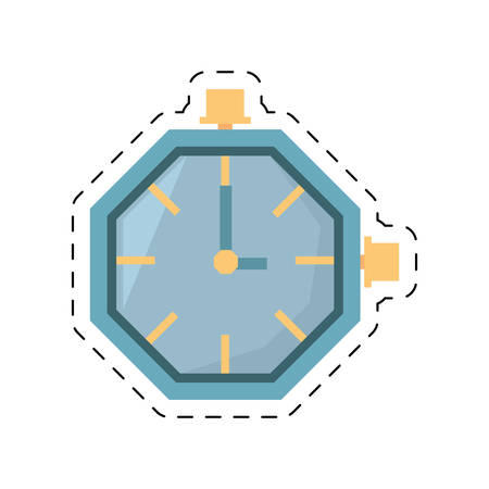watch clock time hour business cut line vector illustration eps 10