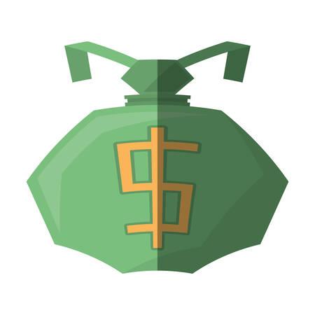 bag money dollar business cash shadow vector illustration eps 10
